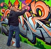 De Kunstenaar van Graffiti Royalty-vrije Stock Afbeeldingen