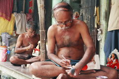 De Kunstenaar van het Aardewerk van India Stock Afbeelding