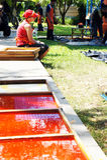 De kunstenaar van het Festival 2012 van de Kaars Ubon Royalty-vrije Stock Foto's