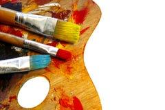 De kunstenaars kleuren palet Royalty-vrije Stock Afbeelding