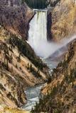 De kunstenaars richten waterval - het Nationale Park van Yellowstone Stock Afbeelding