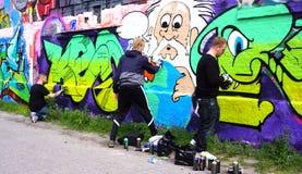 De Kunstenaars van de Christianiagraffiti Stock Fotografie