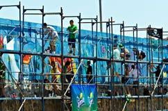 De kunstenaars van Graffiti Stock Fotografie