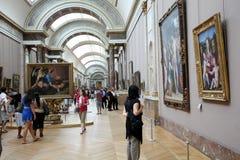 De Kunstgalerie van het Museum van het Louvre Stock Fotografie