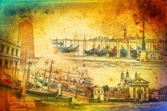 De kunstillustratie van Venetië Stock Foto