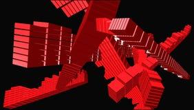 De kunstkruising van de kubus - vector Stock Afbeeldingen