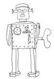 De kunstlijn van de robotmens Stock Afbeeldingen