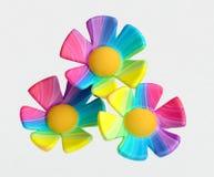 De kunstmatige Bloemen van de Regenboog stock illustratie