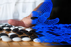 De kunstmatige intelligentie gaat spelerconcept Stock Foto