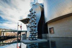De kunstmuseum van Bilbao Stock Afbeelding