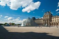 De kunstmuseum van het Louvre in Parijs Royalty-vrije Stock Afbeeldingen