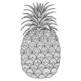 De kunstontwerp van de ananaslijn stock illustratie