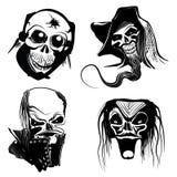 De kunstontwerpen van de schedel Stock Foto's