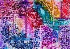 De kunstpatroon van het tapijtwerk in was stock foto's