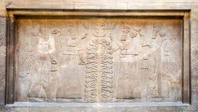 De kunsttentoonstelling van Assyrian in Brits museum, Londen, het UK Stock Afbeeldingen