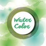 De kunstverf van de kleurenwaterverf stock illustratie