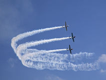 De kunstvliegenteam van Yaks Stock Fotografie