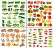 De kurkumaspaanse peper van de komkommerpeper op witte achtergrond Stock Foto's