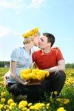 De kus van de lente Stock Afbeeldingen