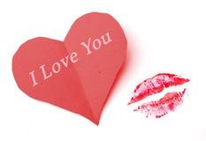 De kus van de liefde Stock Afbeelding