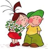 De kus van de valentijnskaart Stock Afbeelding