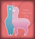 De kus van de valentijnskaart Royalty-vrije Stock Afbeelding