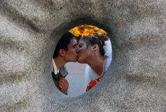 De kus van het huwelijk Royalty-vrije Stock Fotografie