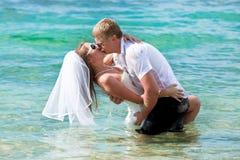 De kus van het huwelijk Royalty-vrije Stock Foto's