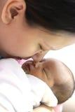 De kusbaby van het mamma Stock Fotografie
