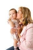 De kussende dochter van de moeder royalty-vrije stock foto's