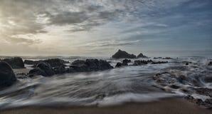 In de kust Royalty-vrije Stock Foto's