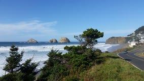 De kust de V.S. van Oregon Royalty-vrije Stock Afbeeldingen