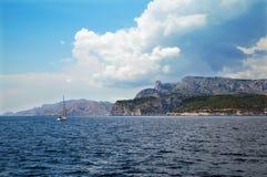 De kust dichtbij van La Ciotat Stock Foto's