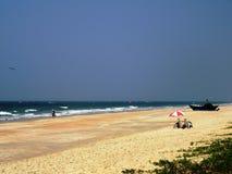 De kust en de stranden van Goa stock afbeelding