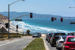De kust langs Carmel Valley, Californië Royalty-vrije Stock Foto's