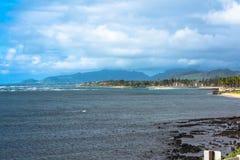 De kust langs Wailua, Kauai, Hawaï Stock Fotografie