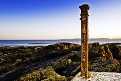 De kust rode post van Saltcoats Royalty-vrije Stock Foto's