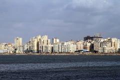 De kust van Alexandrië stock afbeelding