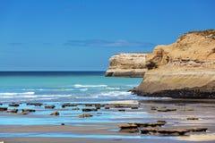 De kust van Argentinië stock afbeeldingen