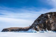 De kust van Baikal Royalty-vrije Stock Foto