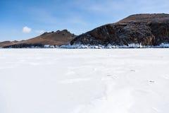 De kust van Baikal Stock Afbeeldingen