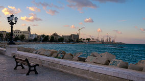 De kust van Bari (Apulia, Italië) royalty-vrije stock foto's