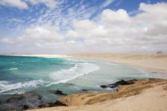 De kust van Boavista Royalty-vrije Stock Afbeeldingen