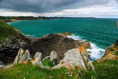 De kust van Bretagne Royalty-vrije Stock Afbeelding