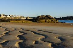 De kust van Bretagne Stock Afbeeldingen