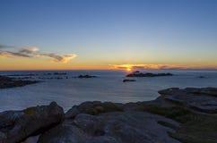 De kust van Bretagne royalty-vrije stock foto's