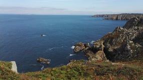 De kust van Bretagne in Finistère, GLB Sizun, Frankrijk, Europa royalty-vrije stock foto