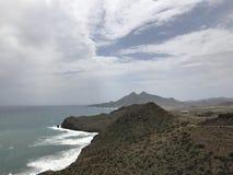 De kust van Cabo DE Gata Stock Afbeeldingen