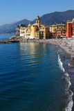 De kust van Camogli Italië Royalty-vrije Stock Fotografie