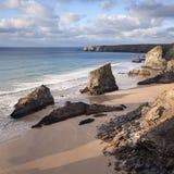 De kust van Cornwall Stock Foto's
